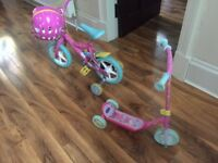 Peppa Pig Bike, Scooter & Helmet