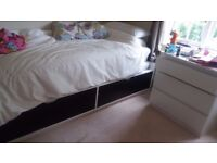 Ikea Flaxa Bed Frame and Mattress - Twin Size