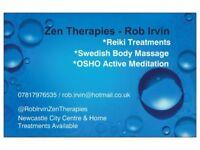 Reiki Treatments - Swedish Body Massage and OSHO active Meditation