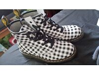 Dr Martens Black and White Checkered