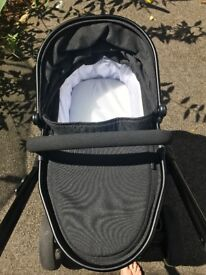 iCandy peach blossom jet black with maxi cosi car seat and base + extras