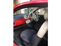 Red fiat 500 3 Dr lounge