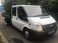 2008 FORD TRANSIT T350 115 6spd LWB CREW CAB ALLOY TIPPER, COUNCIL OWNED, GOOD WORKHORSE, NO VAT