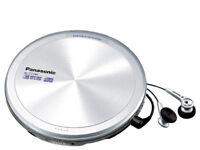 Panasonic SL-CT790 Portable CD Player Discman +Headphones Battery Pack Carry Bag