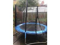 8ft Wulf Trampoline With safety Net And Ladder