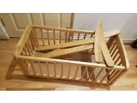 mothercare swinging crib - natural -for sale