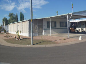 3 bedroom double wide Mobile Home in 55+ Park Mesa AZ