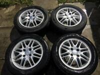 "4 x Ford Focus 15"" alloys 4x108 with great condition tyres 195/60/15"