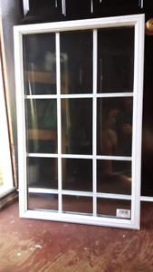 Exterior door window