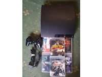 ps3 slim 6 games and controller