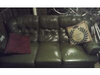 CHESTERFIELD SOFA (HAS BEEN CLEANED PROFESSIONAL)