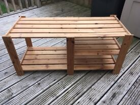 Large solid wood shoe stand rack