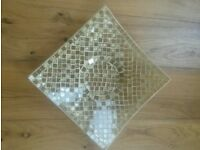 New Yellow/Gold Mosaic Glass Tile Candle Plate/Tableware/Decoration/Ornament/Bathroom/ Bedroom