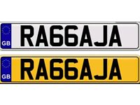 RAJA RAJAH a private number plate for sale