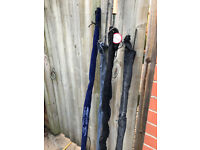 3 Fly fishing rods excellent condition at £20ea. 8'6 to 10'6 AFTM 5-8