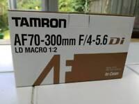 Tamron lens AF70-300mm F/4-5.6 LD macro 1:2