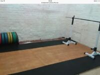Olympic bumper weight lifting set