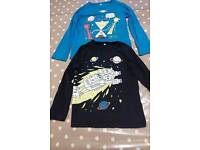 Two 5-6 year old boys long sleeved t-shirts from M&S