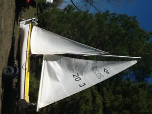 12 Foot Sailboat With Trailer-Excellent Condition