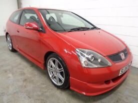 HONDA CIVIC TYPE R , 2005 REG , LOW MILES + FULL HISTORY , LONG MOT , FINANCE AVAILABLE , WARRANTY