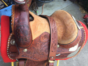 Western saddle for show or trails