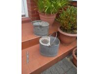 GALVANISED MOP BUCKETS // ANTIQUES { 2 } DISPLAY OR GARDEN PLANTERS