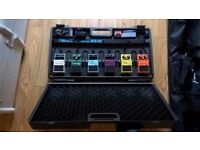 Boss BCB-60 Pedal Board with 6 Boss Effects Pedals and Tuner