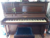 upright piano for sale with piano stool