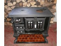 BBQ. Oven decorativefrom Dutch canal Boat. Coal/charcoal burning - suitable for BBQ