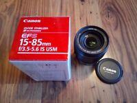 Canon EFS 15-85mm lens