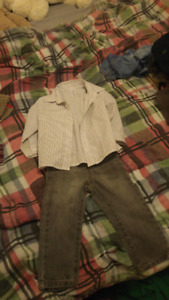 Boys sweaters, button downs and pants. 18-24 mos