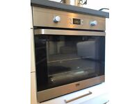 Beko Built-in Electric Fan Oven/Grill - Stainless Steel