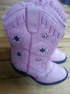 Girl's pink light up cowboy boots
