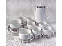 Queen Anne Bone China Retro Coffee Set