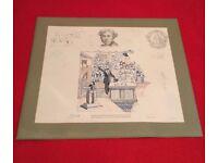 "BANK OF ENGLAND Original Banknote artwork ""LIMITED EDITION"" Signed"