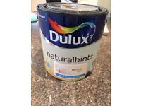 Dulux paint. Orchid white. Unopened. Matt for walls and ceilings.