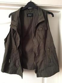 Khaki Sleeveless Jacket