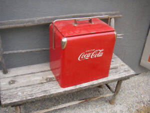 Vintage Portable Coca-Cola cooler.