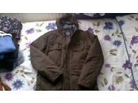 Brown/khaki padded field jacket - Matalan - size M