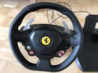 Xbox 360 Thrustmaster Ferrari 458 Italia Steering wheel and pedals