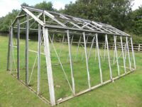 16 by 10 foot Aluminum frame greenhouse