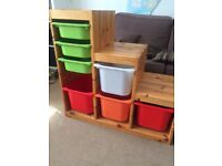 Solid Wood Ikea Toy Storage Unit