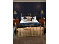 Brass bed frame fits Kingsize divan bed. Very good condition. Bought at M&S