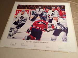 Autographed Hockey Lithograth
