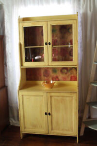 Hutch Cabinet & shelf (sold as pair)