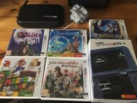 BOXED Nintendo *New* 3DS XL with five games, charger, hard shell case.