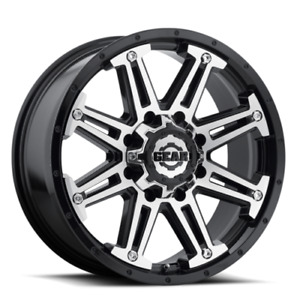 "4 NEW  GMC/CHEVY 2500/3500 ** 20"" 8×180 BLACK/MACHINED WHEELS"