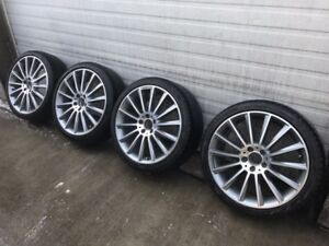 AMG wheels 235/45 R19 front, 245/45 R19 rear