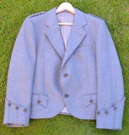 Men's Light Green Andrew Douglas Tweed Argyll Kilt Jacket 40R