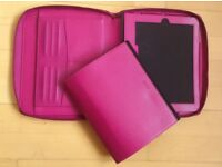 Filofax Pennybridge A5 Organiser iPad case, raspberry, never used